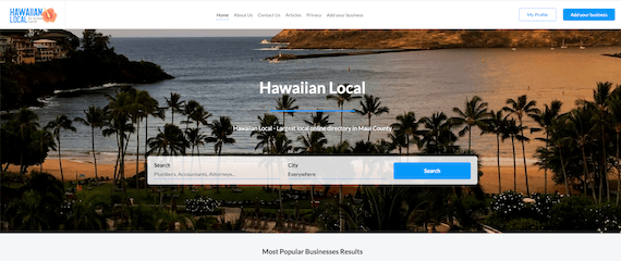 Hawaiian Local home page