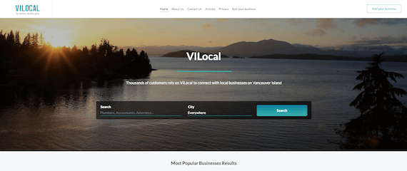 VILocal home page